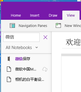 Home  Insert  Navigation Panes  All Notebooks v