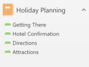 Holiday Planning in OneNote
