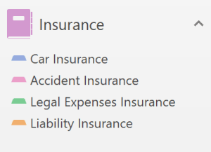 Insurance in OneNote